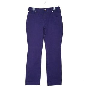 SO SLIMMING by Chico's purple Jean's size 1